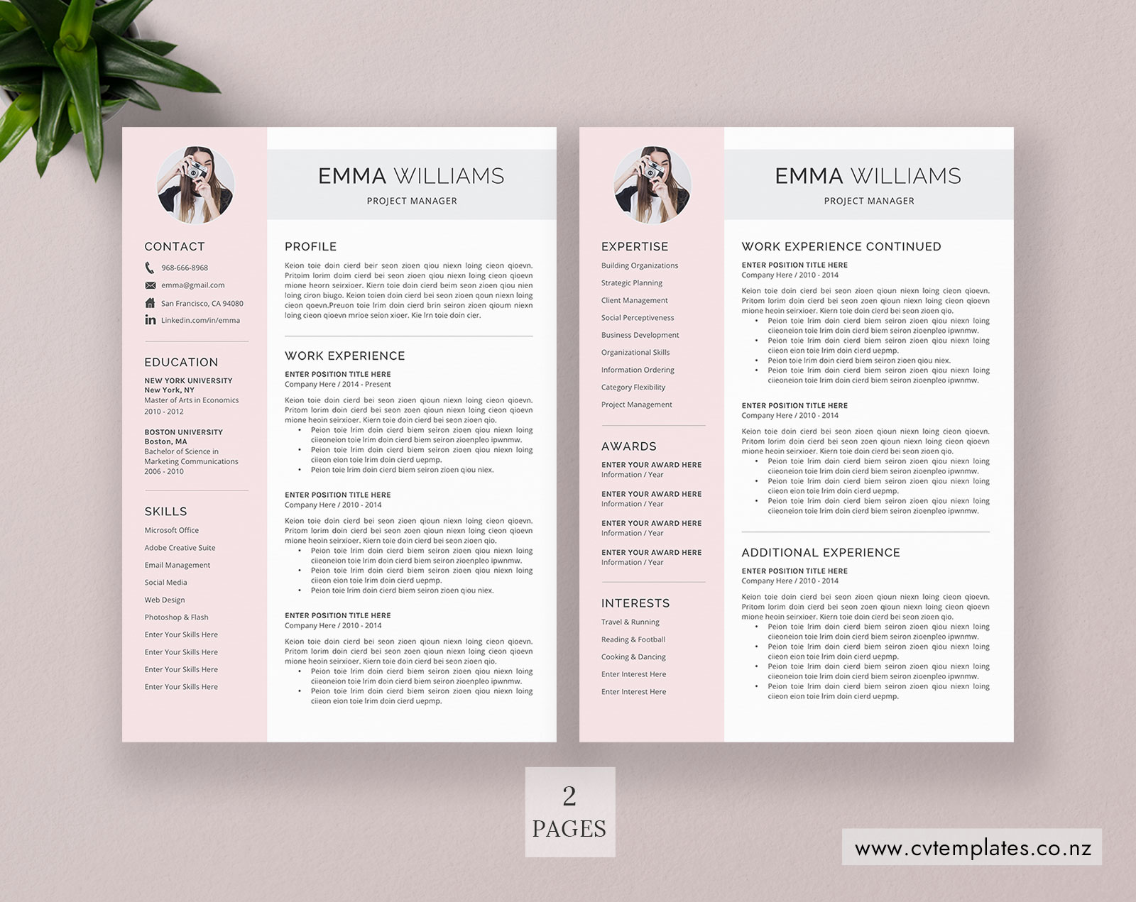 cv template for ms word  minimalist curriculum vitae  professional cv template  cover letter
