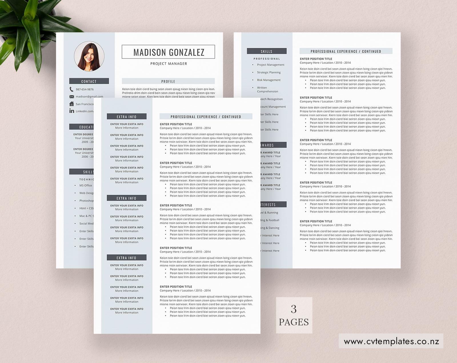 cv template  professional curriculum vitae  minimalist cv template design  ms word  cover letter