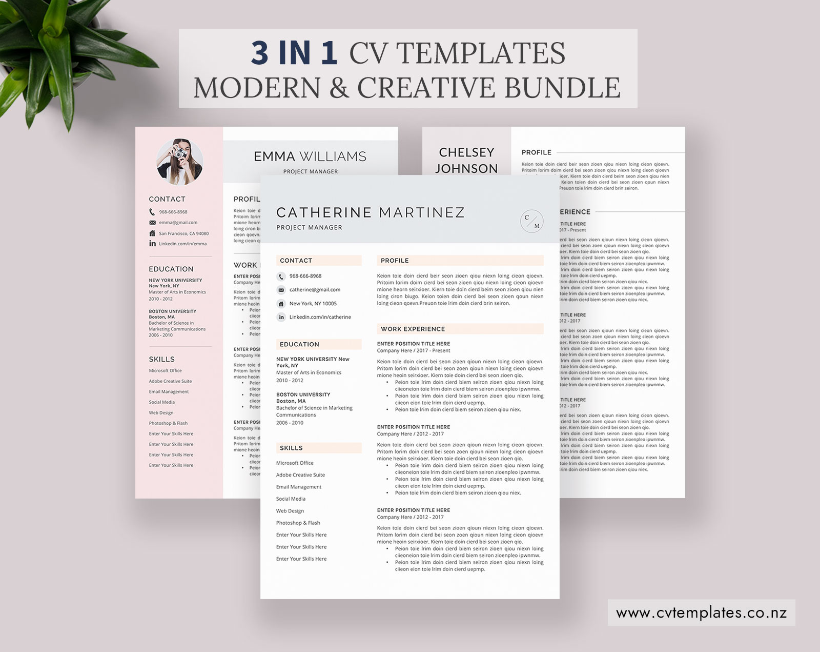 CV Bundle of the Day: 3 CV Templates and Cover Letter ...