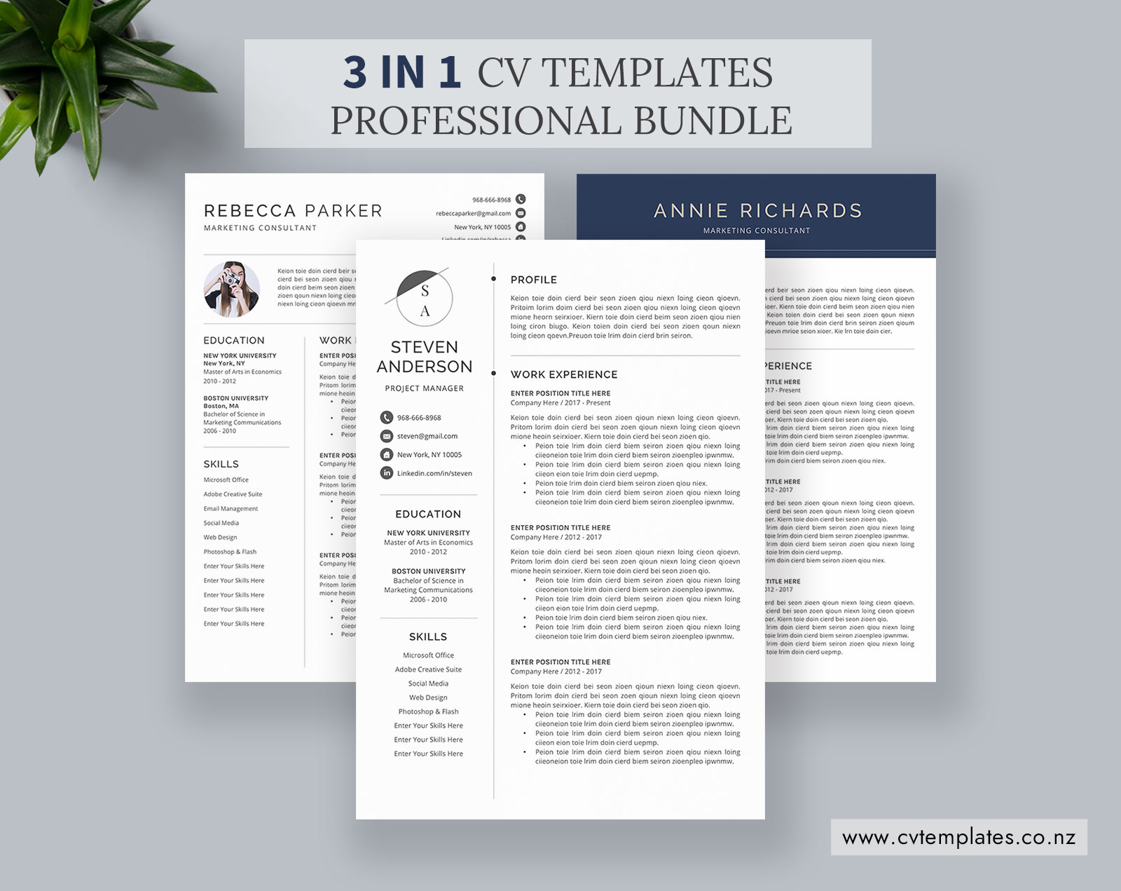 CV Bundle, CV Templates, Professional Curriculum Vitae, MS Word CV  Template, Minimalist CV Format, Cover Letter, Modern Resume, Best Resume,  Instant ...