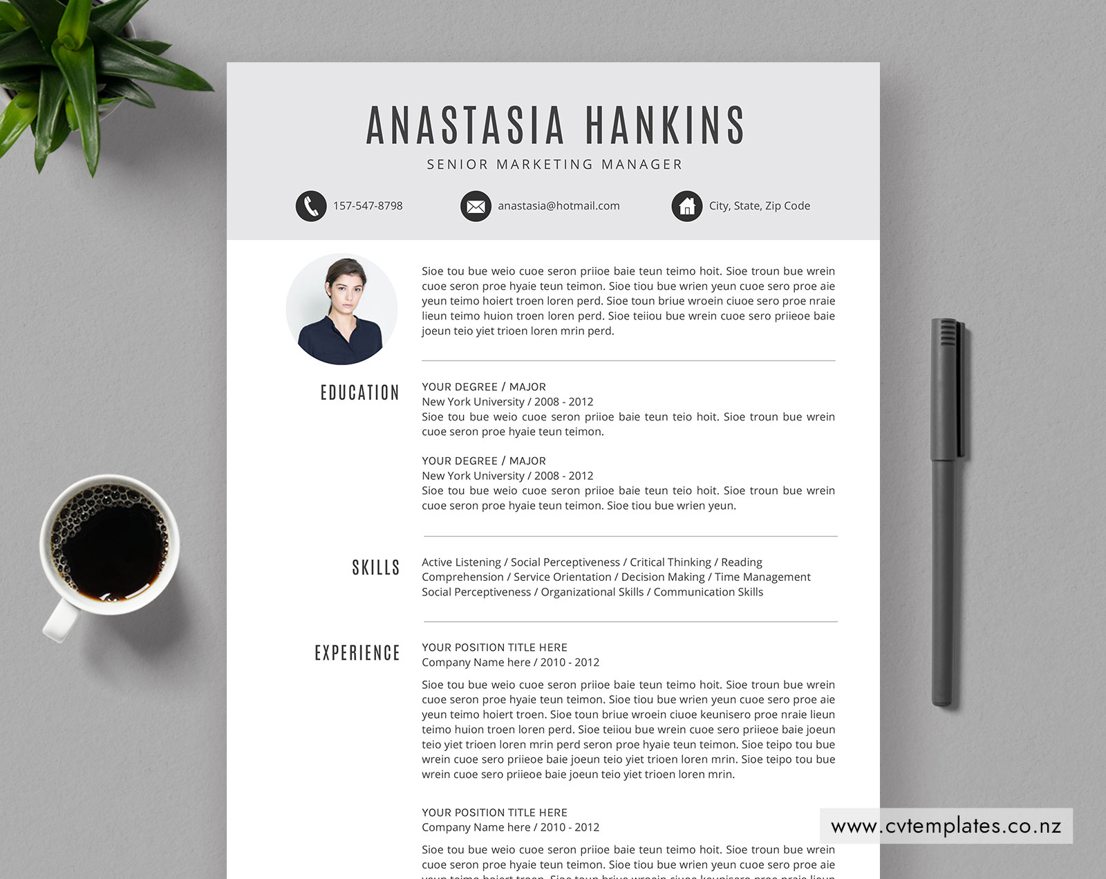 CV Template for MS Word, Editable Curriculum Vitae, Student CV Template,  Cover Letter, 1, 2 and 3 Page Resume, Professional and Simple Resume  Template ...