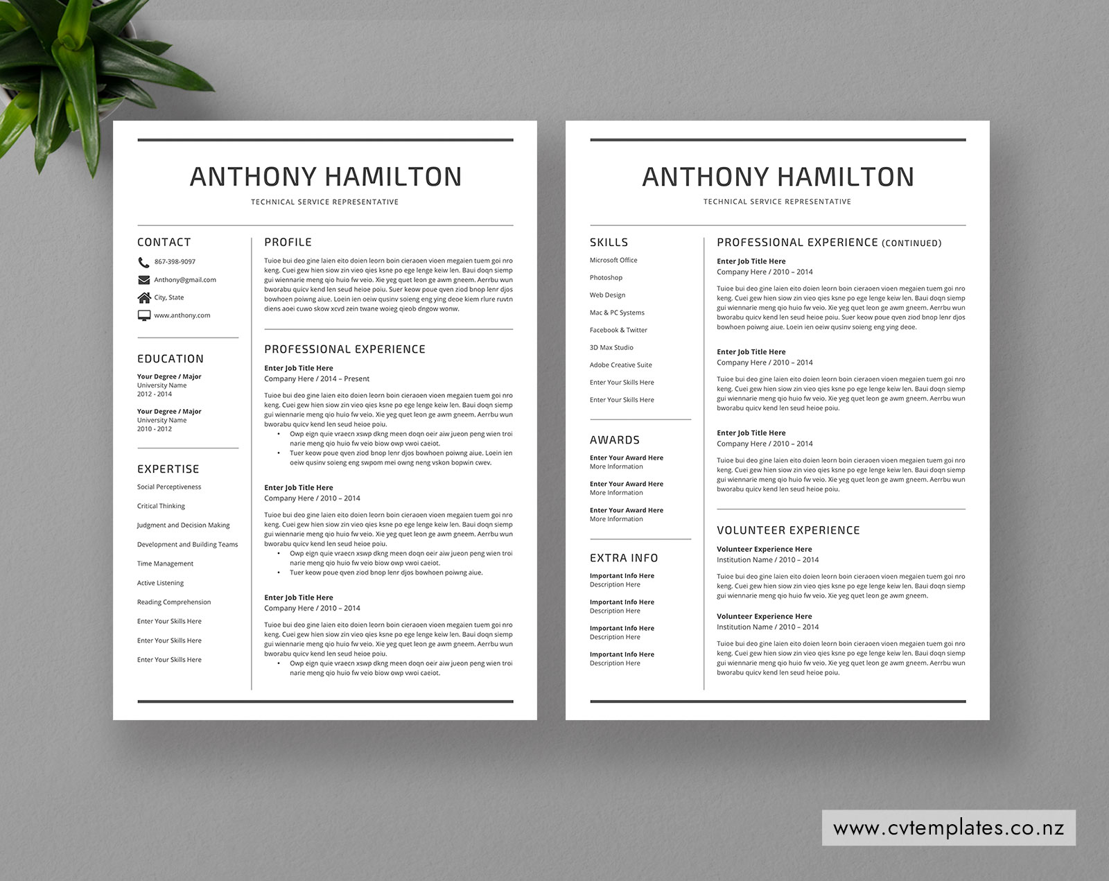 2 Page Resume Format >> Reading Cvtemplates Co Nz