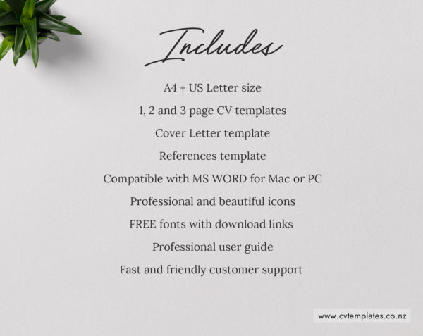 Cv Template For Ms Word Curriculum Vitae Editable Cv