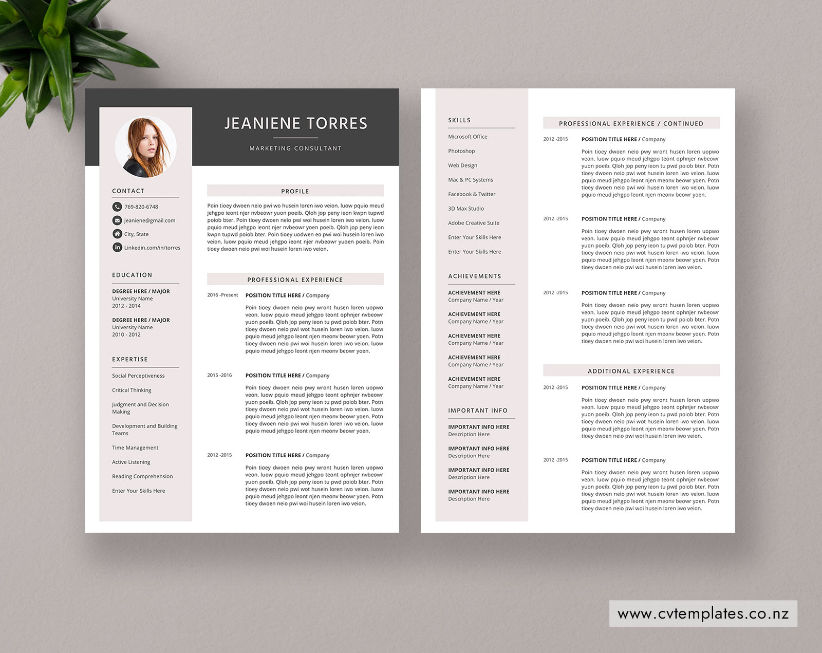 Cv Templates Bundle For Ms Word Curriculum Vitae Modern Resume