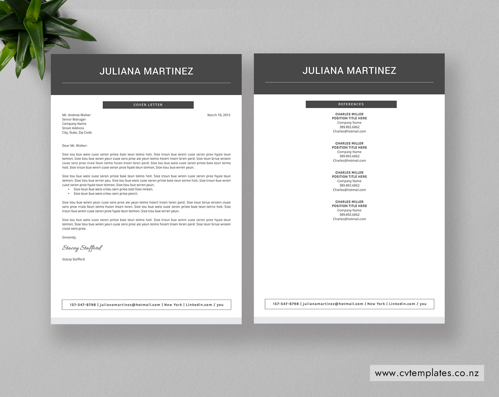 Cv Template For Ms Word Curriculum Vitae Editable Cv Template Professional Modern Cv Template Design Cover Letter References 1 2 And 3 Page Resume Template Instant Download Cvtemplates Co Nz