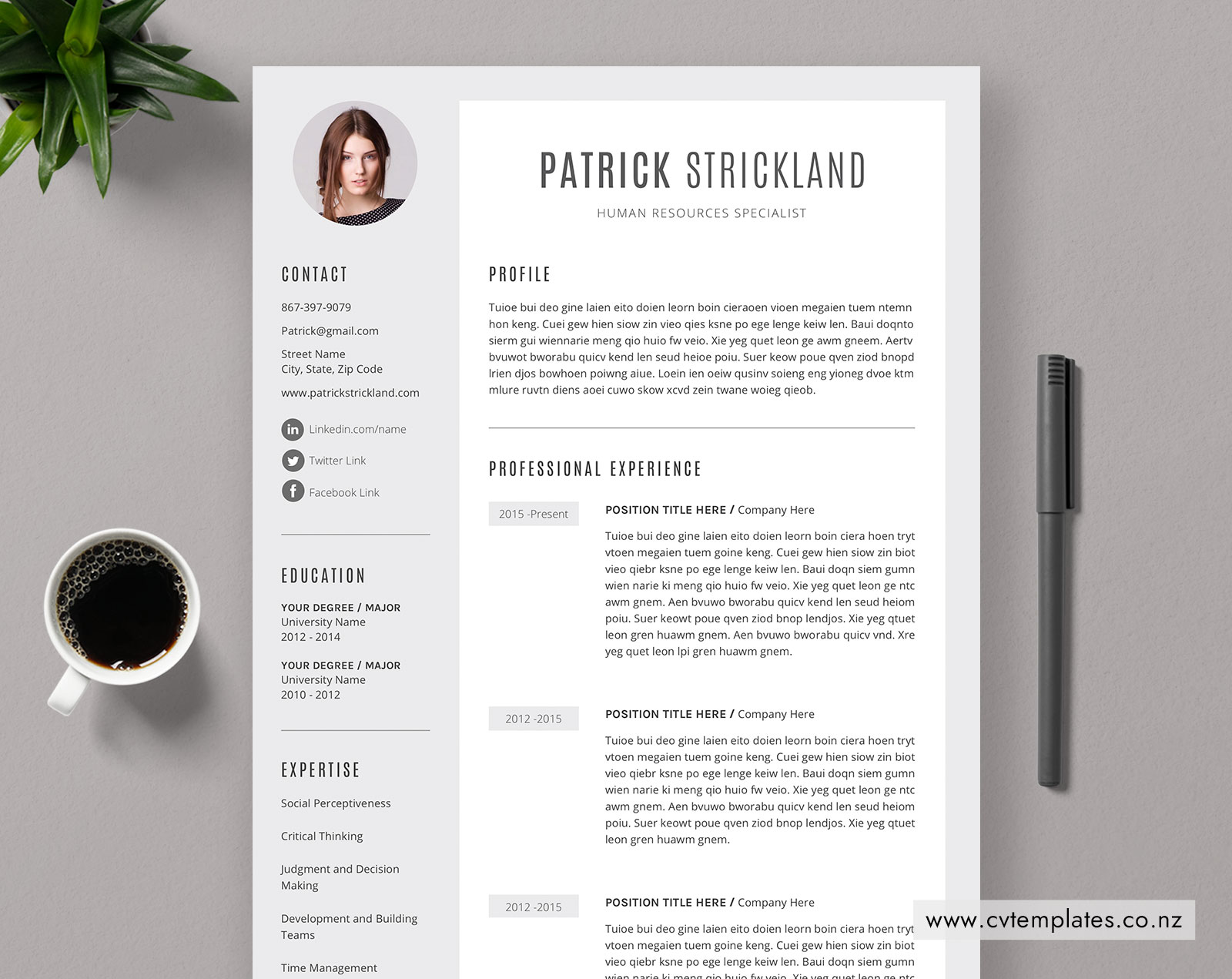 10 Highly Functional and Professional CV Templates and Cover ...