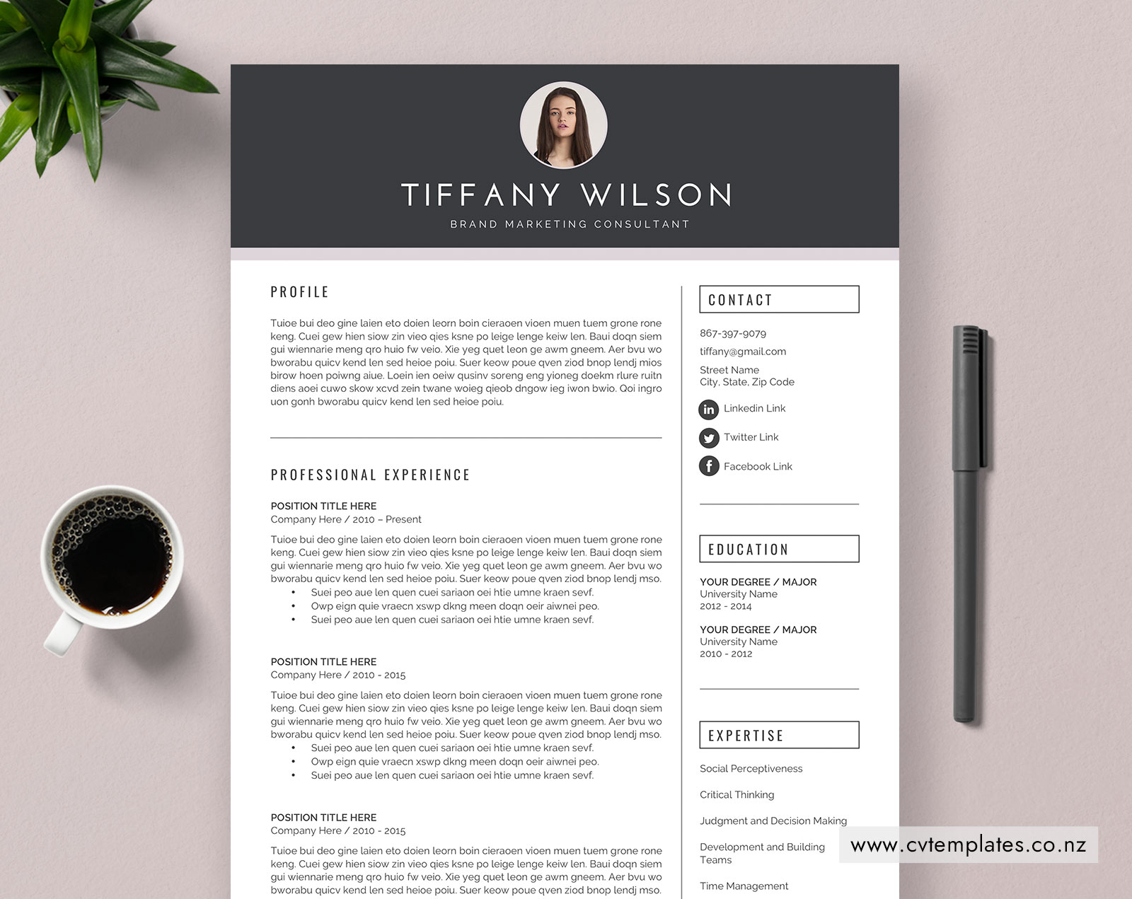 CV Template for MS Word, Curriculum Vitae, Professional CV Template Design,  Cover Letter, 1, 2 and 3 Page Resume, Modern Resume, Fashion Resume ...