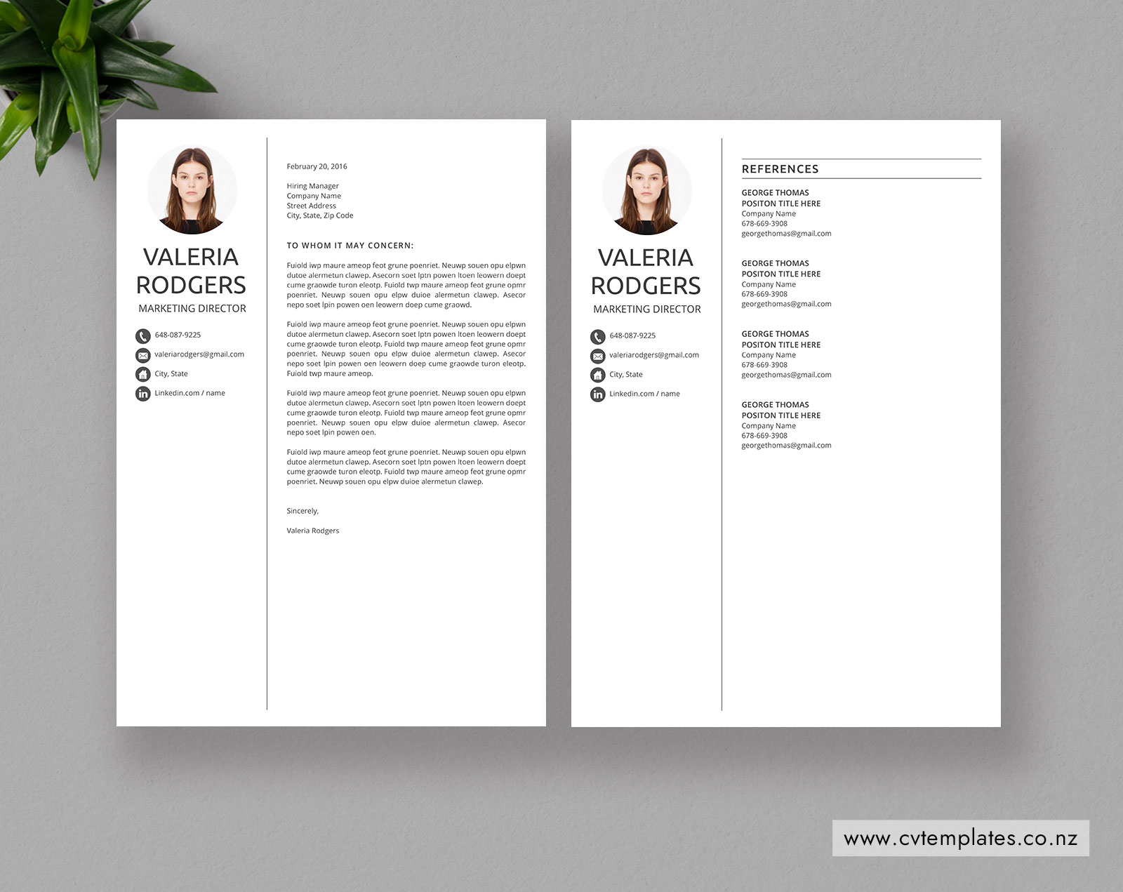 Purchase cv template